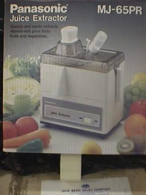 Panasonic Mj 65 Juice Extractor Jack Berg Sales