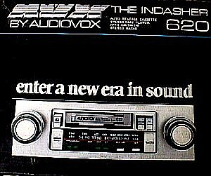 audiovox 620 in dash am fm auto reverse cassette stereo. Black Bedroom Furniture Sets. Home Design Ideas