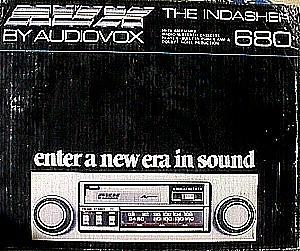 audiovox 680 in dash am fm auto reverse cassette stereo. Black Bedroom Furniture Sets. Home Design Ideas