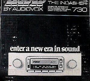 audiovox 730 in dash am fm auto reverse cassette stereo. Black Bedroom Furniture Sets. Home Design Ideas