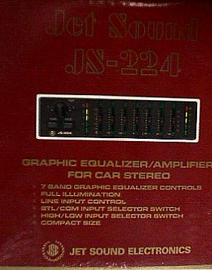 jet sound js 224 graphic equalizer amplifier for car stereo jack  jetsound_equalizer_js_224 jpg (43479 bytes)