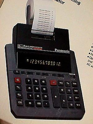 Panasonic Je 661p 12 Digit Led Two Color Print Display