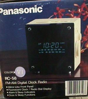 Panasonic Rc 58 Fm Am Digital Alarm Clock Jack Berg Sales