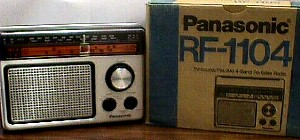 How Much Is Sales Tax In Texas >> Panasonic RF 1104 AM/FM Portable Radio - Jack Berg Sales