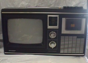 Sharp Tri Mate 1000 9 Inch Black And White Am Fm Cassette