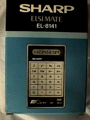 E Liquid Calculator >> Sharp EL 8141 10 Digit Handheld Calculator - Jack Berg Sales