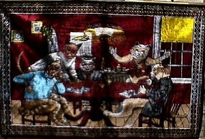 Cats Playing Poker 71 X 47 Wall Tapestry Jack Berg Sales