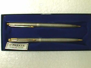 Parker 2 Piece Sterling Silver Writing Pen Set Jack Berg